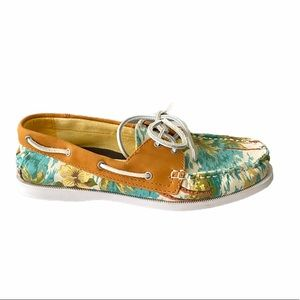 G H Bass & Co tropical lace up vacation boat shoes